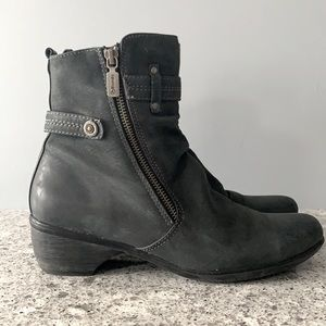 Blondo Charcoal Leather Siena Aquaprotect  Boots